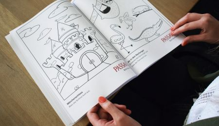 Pages of the PASSAVIA colouring book